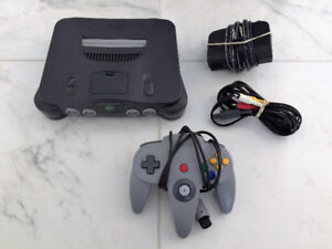 Nintendo 64 System with All Hook Ups & JUMPER PACK