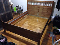 IKEA Queen size wooden bed frame