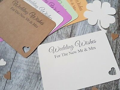 10 x WEDDING WISHES ADVICE CARDS FOR THE NEW MR & MRS.KEEPSAKE,HANDMADE, IVORY..