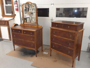 Antique dresser and highboy