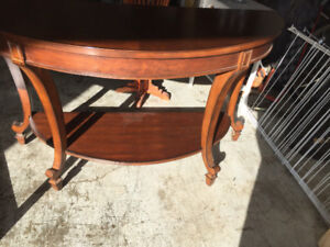 Demi lune hall table