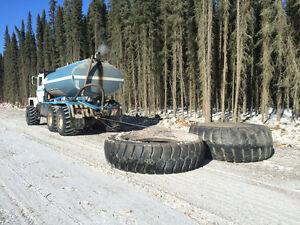 Ice road building equipments