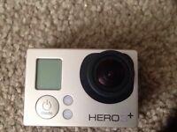 GoPro Hero 3+ silver plus extras