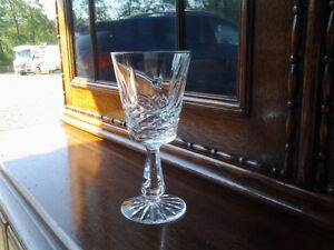Vintage Waterford crystal Lismore claret wine glasses set of 8