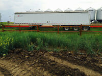 Wilson aluminum enclosed 48 ft  tri axel grain trailer