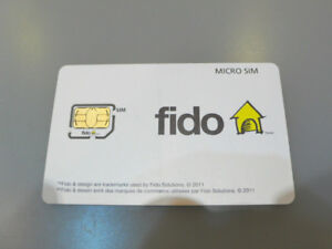 Fido Micro Sim Card New