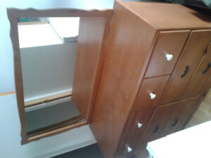 Sturdy dresser and mirror