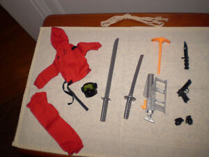 GI Joe Hall of Fame Red Ninja Mission Gear.