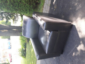 Fauteuil brun comme neuf