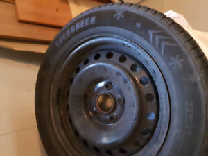 Winter tires AND Steel rims 215/60R16