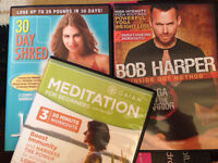3 work out yoga exercise meditation DVDs 30 day shred