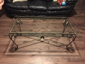 Wrought iron coffee table set