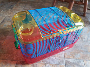 Hamster cage with water bottle attachment but no wheel