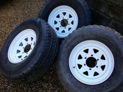 """SUNRAYSIA Rims with 15"""" Tyres Mount Warren Park Logan Area Preview"""
