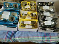 Unisex mirrored sunglasses, joblot, 100 pairs