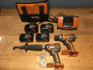 10 ITEMS!!!! Rigid 18V Lithium Combo Pack