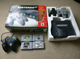 Nintendo n64 console 2 controllers 4 games v good condition, used for sale  Liverpool, Merseyside