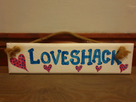 🌿 HAND PAINTED IN CORNWALL...LOVESHACK SIGN 🌿