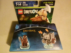 Lego Dimensions Lord of the Rings Gimli fun pack $5