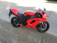 2007 Kawasaki ZX6R with low km