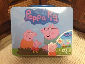 BRAND NEW Puzzle 24 Pieces T5 Jigsaw Peppa Pig and Family Mud