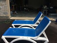 Resin sling patio loungers