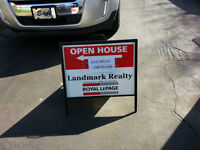 HIGH QUALITY FOLDING FRAME REAL ESTATE SIGNS