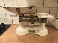 Old retro Harrold's metal kitchen scales