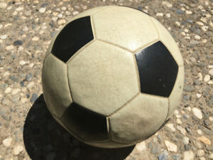Game used rubber vinyl soccer balls used in the 1970's - 1980's