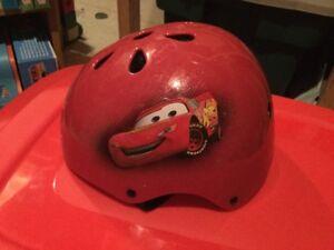 """Red """"Cars"""" Lightning Mcqueen Bike Helmet"""