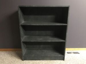 Dark Gray Spackled Finished Bookcase! Excellent condition!