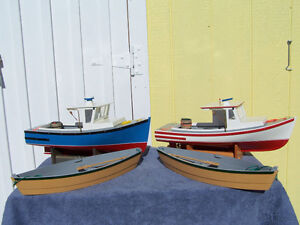 Wooden Cape Island Boat Models and Dorys