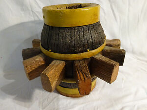 Antique Wagon Wheel Hub - CIRCA `1880 - GREAT CENTER PIECE