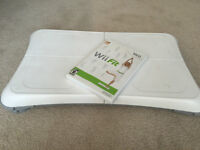 Nintendo Wii fit with balance board