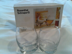 Unused and Boxed Set of two Rosenthal Schnaps-Eggs Glasses