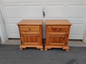 Solid Pine Wood End Tables