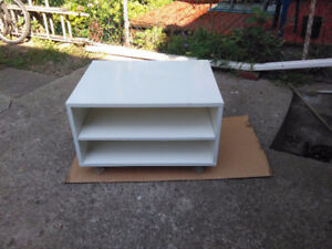 White TV stand used