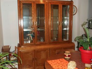 Solid wood buffet and hutch Peterborough Peterborough Area image 1
