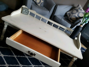Vintage distressed coffee table with drawer