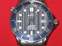 OMEGA JAMES BOND BLEUE AUTOMATIQUE---DEEP OCEAN WATCH