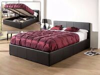 """""""Same Day Free Delivery"""" -- Double Semi Orthopaedic Gas Lift Storage Leather Bed -- Get It Now"""