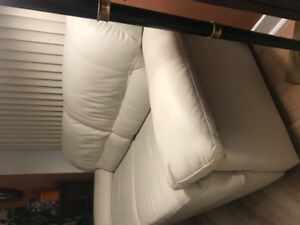 MOVING SALE GENUINE LEATHER SOFA AND CHAIR