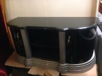 Camelgroup black and silver tv unit