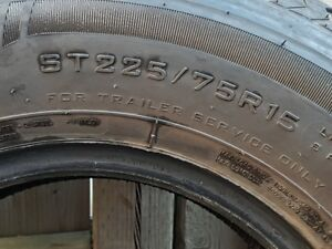 Like New Spare Trailer Tire ST225/75/15 Load Range D