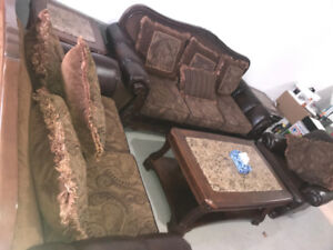 Ashley Homestore Sofa Set, Centre table And Two Side tables