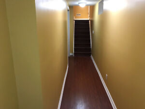 2 Bedroom Basement Apartment: available October 1st.