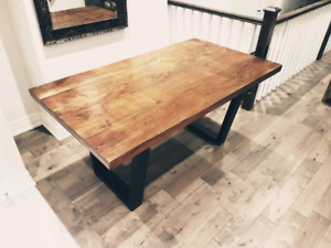 Industrial Wood with Iron Legs Table Must Sell