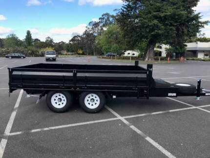 FROM $346 P/MONTH ON FINANCE* 12X7 FLATBED TANDEM TIPPER - 3.5 t