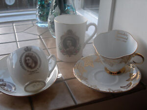 Antique China Cups/Saucers and Mug