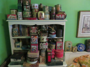 Vintage antique food tins, rare advertising and shapes